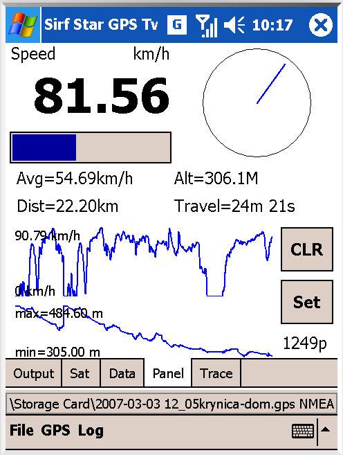 Sirf GPS Tweaker application - GPS dashboard and debugging for Pocket PC