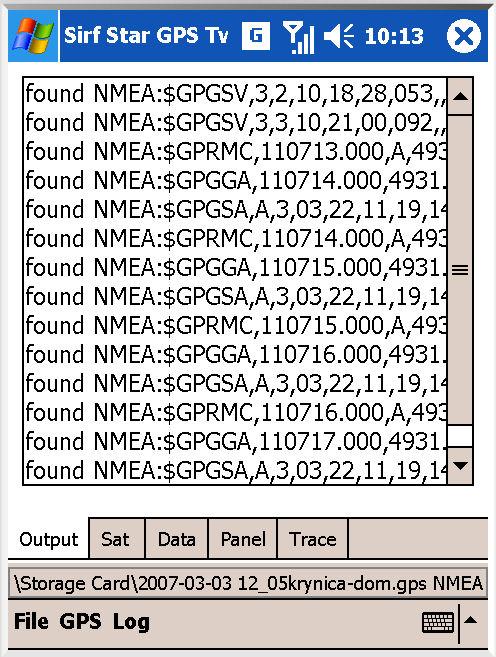 Sirf GPS Tweaker application - GPS dashboard and debugging